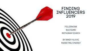 Free Tool for Finding Influencers 2019