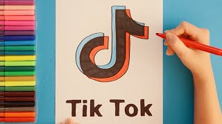How to draw Tik Tok Logo