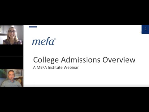 The MEFA Institute: College Admissions Overview
