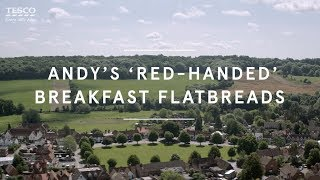 Andy's 'red-handed' breakfast flatbreads