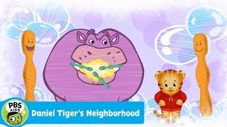 DANIEL TIGERS NEIGHBORHOOD | Daniels Teeth Brushing Song | PBS KIDS