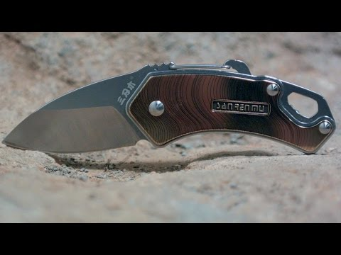 Awesome Budget Knife Review: Sanrenmu Plus 4077 EDC Pocket Knife (1.75 in.) New for 2015