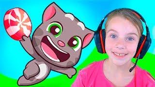 ГОВОРЯЩИЙ ТОМ БЕГ ЗА СЛАДОСТЯМИ игровой мультик игра для детей про котенка