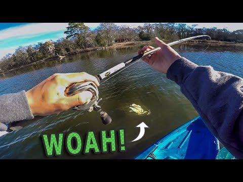Kayak Fishing SURPRISE! (BIG Bass) – Chatterbait Fishing Tips