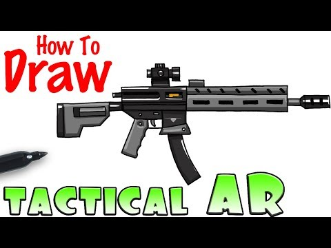 How To Draw Fortnite Weapons Rainbow Smash Youtube