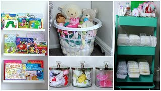 DIY NURSERY DECOR + ORGANIZATION IDEAS | EASY NURSERY DECOR | NIA NICOLE