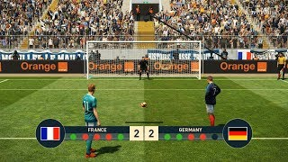 FRANCE vs GERMANY   Penalty Shootout   PES 2019 Gameplay PC
