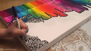 Rainbow City Skyline Made With Melted Crayons By Zenspire Designs