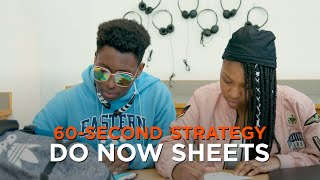 60-Second Strategy: Do Now Sheets