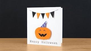 Very Happy Halloween Card Tutorial | DIY - Halloween Greeting Card