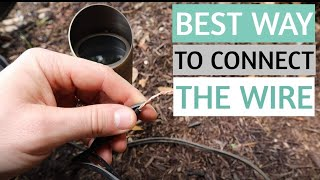 HOW TO WIRE LOW VOLTAGE LANDSCAPE LIGHTING - Outdoor Landscape Lighting Connectors