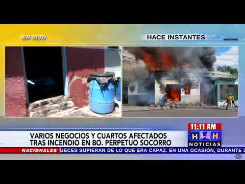 Incendio arrasa locales comerciales en el capitalino bo. Perpetuo Socorro