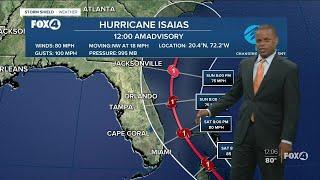 Hurricane Isaias Update 12 AM 7/31/20