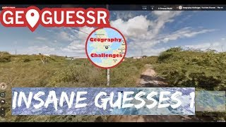 Geoguessr   Insane Guesses Compilation 1