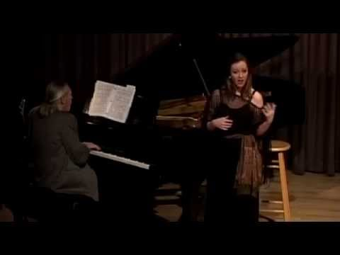 "Paige Patrick, soprano, sings ""I'm a Stranger Here Myself"" from Kurt Weill's ""One Touch of Venus"" with Goat Hall Opera's Little Weill Women."