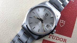 Steel Tudor / Rolex Oyster Perpetual Date-Day Ref. 94500 vintage wristwatch, circa 1984