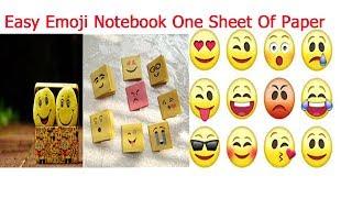 Easy Emoji Notebook One Sheet Of Paper| Emoji Notebook DIY| Emoji Paper C rafts|DIY Fun Easy  Craft - Video Youtube