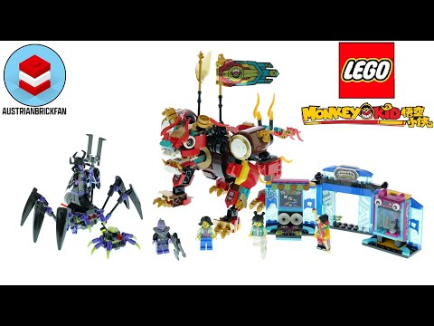 Vidéo LEGO Monkie Kid 80021 : Le lion de garde de Monkie Kid