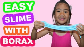 Easy Slime with Borax! Blue Slime!