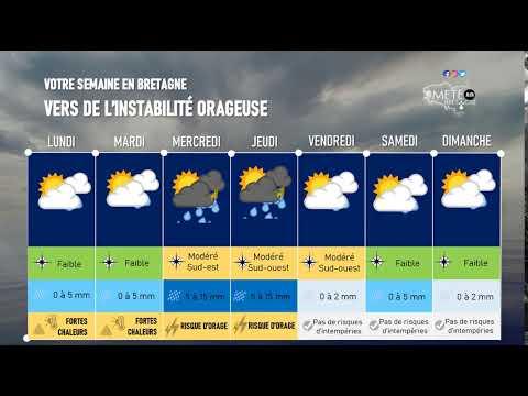 Illustration de l'actualité Votre semaine en Bretagne : vers de l'instabilité orageuse