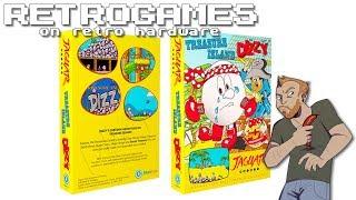 Let's Play Treasure Island Dizzy On Atari Jaguar!   Live Atari Jaguar Gameplay