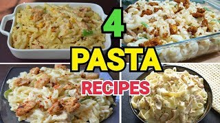 PASTA 4 WAYS by (YES I CAN COOK) #AlfredoPasta #CreamyPasta #WhiteSaucePasta #FettucineAlfredo