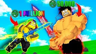 I had a 1 MILLION ROBUX Battle with my Big Brother.. (Roblox)