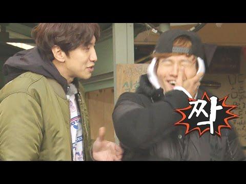 이광수, 칭얼대는 김종국에 따귀 《Running Man》런닝맨 EP462 (видео)