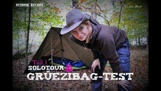 Solotour - Schlafsacktest ohne Bekleidung im Grüezibag & Geschichten aus Bisleyland  - Teil 1