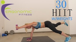 30 MINUTE HIIT WORKOUT WITH WEIGHTS by Eye See Digital