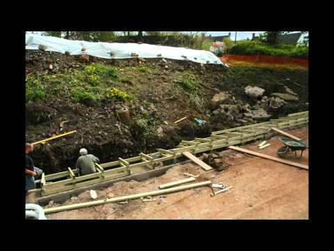 SMCC extension - making the timber crib wall