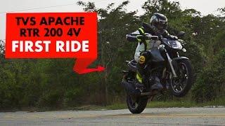 TVS Apache RTR 200 4V | First Ride | PowerDrift