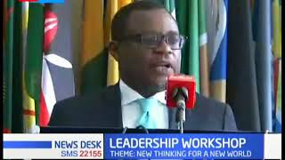 Senate speaker Kenneth Lusaka speaks on the Tolbert foundation workshop to be hosted in Nairobi