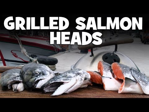 Grilled Salmon Heads recipe