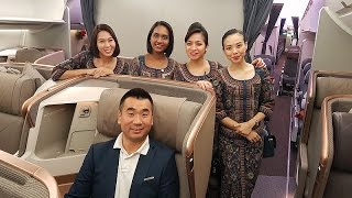Singapore Airlines A350-900 NEW BUSINESS CLASS REVIEW