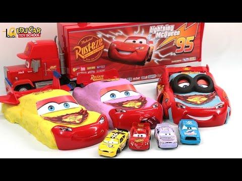 Learning Color Number Special Disney Pixar Cars Lightning McQueen kinetic sand for kids car toy