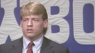 Troy Aikman Becomes First Draft Pick In Jerry Jones Era