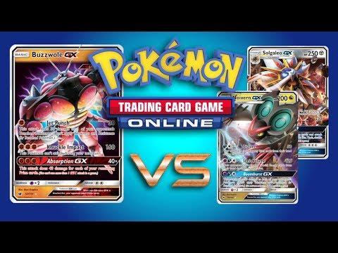 Buzzwole GX / Lycanroc GX vs Noivern GX and Solgaleo GX – Pokemon TCG Online Gameplay