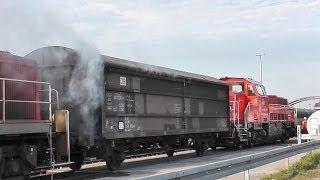 preview picture of video '[Brennt Zug Bahnhof Linden] Einsatz Feuerwehr/Rettungsdienst/Polizei Region Hannover (HD)'