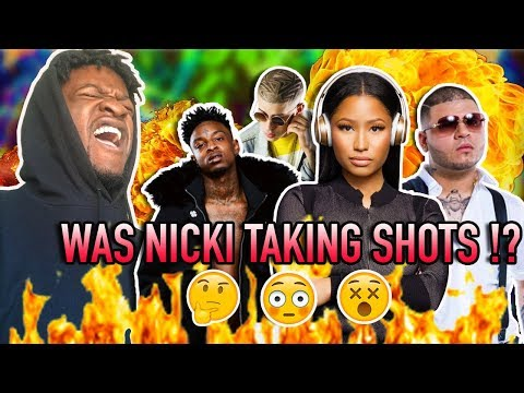 Farruko, Nicki Minaj, Bad Bunny - Krippy Kush (Remix) ft. 21 Savage, Rvssian (REACTION)