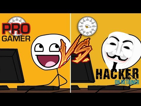 Pro Gamers Vs Hacker/pirate Gamers Funny Stickman Animation