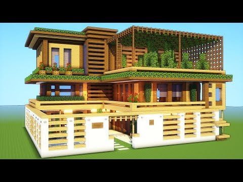 Minecraft: How To Build A Large Mansion House Tutorial