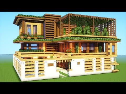minecraft mansion houses build tutorial modern casas easy ideen tutorials villa wooden ein haus survival cool casa herrenhaus baut wie