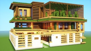 Minecraft How To Build A Large Wooden Mansion Tutorial