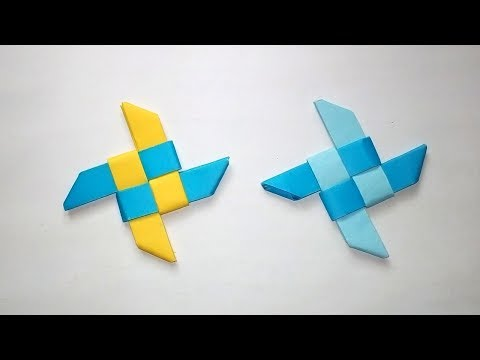How To Make A Paper Ninja Star Shuriken Easy Classic Origami