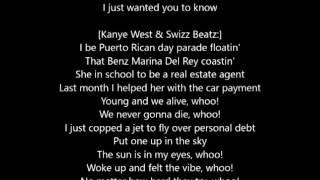 Famous -  Kanye West Feat Rihanna and Taylor Swift Lyrics The Life Of Pablo (lyrics)