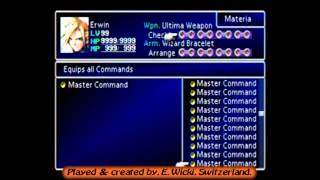 Final Fantasy 7, ULTIMATE SAVE-FILE !! Materia exhibition, (SwissGamer777)