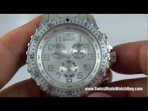 Invicta Watches   Men's 6620 II Collection Chronograph Silver Dial Swiss Watch