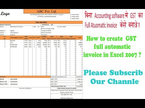 Fully automatic GST invoice in Excel 2007? - Thủ thuật máy