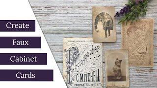 DIY Faux Antique Cabinet Cards